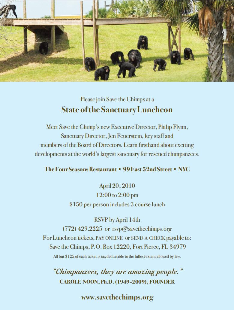 Sanctuary Lunch Invitation