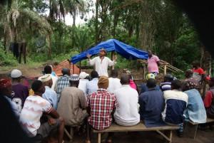 Dr Andrew Halloran in Africa